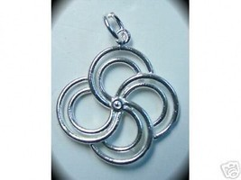 LOOK 1009 Celtic Spiral Silver pendant charm life cycle - $14.27