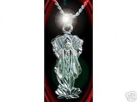 LOOK 0953 Hindu AUM Vishnu God OM Silver Charm Pendant - $24.14