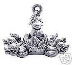 LOOK 1804 Ugly Duckling Pendant Charm Silver Jewelry Duck - $16.55