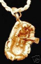 LOOK 1693 Gold Plated Water Rafting Raft Pendant Charm - $15.15