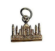 LOOK 24Kt Gold Plated TAJ MAHAL INDIA travel Vacation charm - $560,80 MXN