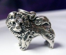 LOOK 2684 Chow Charm 3D Sterling Silver Dog puppy Jewelry - $25.31