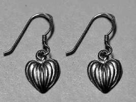 LOOK Adorable I love Halloween Pumpkin heart Earrings Genuine Sterling S... - $21.17