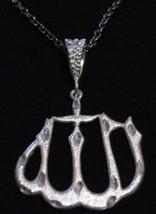 LOOK Big Allah Sterling Silver pendant charm Islam Jewelry - $42.10