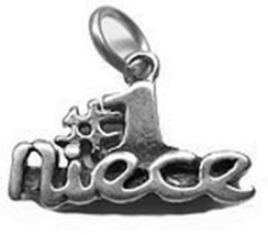 LOOK Beautiful Solid Sterling Silver .925 #1 Niece I Love You charm Jewe... - $310,62 MXN