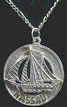 LOOK Bahamas Nassau Sail boat silver Jewelry Pendant Charm - $20.52