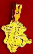 LOOK 0504 Gold Plated Map of Bahama pendant charm Bahamas - $18.76