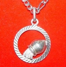 LOOK AQUARIUS Pendant Charm Zodiac Silver wicca Astrology - $13.46