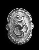 LOOK AUM Om Ganesh Sterling Silver 925 Jewelry Ring Hindu - $27.72