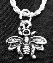 LOOK Bumble Honey Bee Wasp Silver jewelry charm Pendant - $16.96