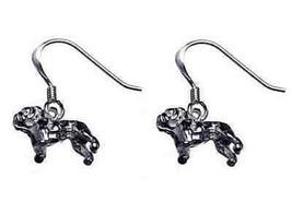 LOOK Bulldog Earrings Pug Dog Sterling Silver .925 jewelry - $523,44 MXN