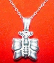 LOOK Butterfly Insect 3-D effect Solid Silver jewelry charm - $16.55
