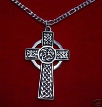 LOOK CELTIC Knot CROSS WHEEL OF LIFE wicca Charm Jewelry - $36.74