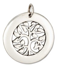 Sterling Silver Round Tree of Life Charm - NEW - €34,31 EUR
