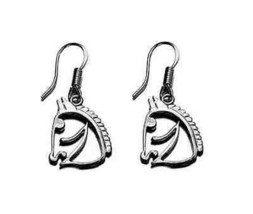 LOOK Chess Knight Horse Sterling silver Earring dangle charm - $21.08