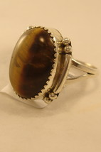 Ring Navaho sterling silver ring with tiger eye stone - $35.00