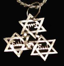 LOOK Detailed JEWISH Star Of David Sterling Silver Pendant - $14.31