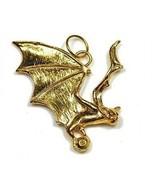 LOOK Dracula Bat control Vampires Amulet gold plated charm - $44.58