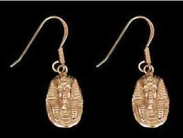 LOOK Egyptian Egypt Earrings 24kt yellow gold plated pharaoh - $560,80 MXN