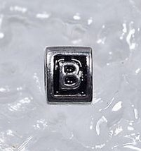 LOOK Letter B Initial for jewelry Real Sterling Silver .925 - $18.75