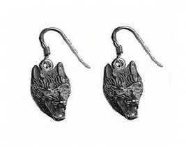 LOOK Wolf Lycan Gothic werewolf Earrings Sterling silver 925 - $37.96