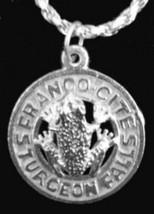LOOK Franco Cites Sturgeon falls Ontario Sterling silver jewelry pendant Charm C - $13.91
