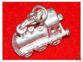 LOOK Silver Chu Chu Train Pendant Charm Locomotive Jewelry - $15.68