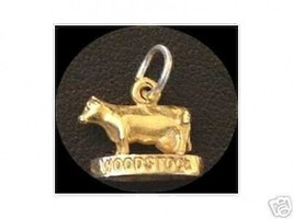 LOOK Woodstock Bull Pendant Gold Plated charm Silver Pendant - $16.48