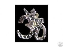 LOOK St. Silver Hindu Om Aum Hinduism earrings Jewelry - $343,11 MXN
