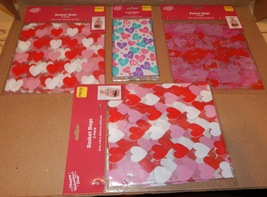 """Valentine's Day Hearts Basket Bags & Treat Bags 4pks 26 Total 22"""" & 3 3/4"""" 103D - $5.49"""