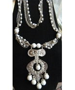 Vintage Etruscan Revival Statement Necklace - $60.00