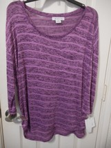 Liz Claiborne 3/4 Sleeve Sweater French Grape Size Medium NEW $38 - $17.82