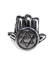 LOOK Star of David Hamsa Jewish bead fits jewelry bracelet - $535,81 MXN