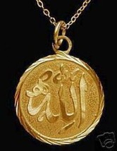 LOOK Islamic Muslim Pendant charm Gold Plated jewelry Islam - $24.12