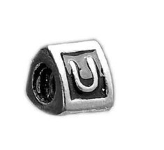 LOOK Letter U Initial for jewelry Bead Sterling Silver .925 - $17.48