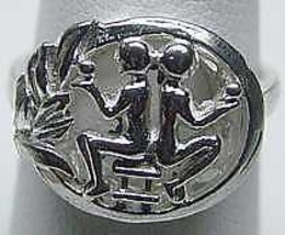 LOOK GEMINI Zodiac Astrology sign Jewelry ring Silver Twins - $18.60