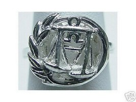 LOOK Libra Scales Zodiac Astrology sign Jewelry ring Silver - $13.04