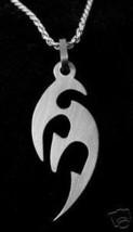 LOOK Thick Modern Sanskrit Om Hindu Charm Sterling Silver - $34.09