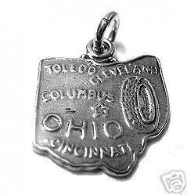 Primary image for LOOK Ohio Toledo State Sterling Silver Charm Pendant Jewelry