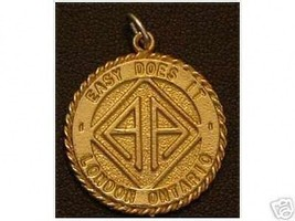 LOOK Ontario Alcoholics Anonymous Gold Plated Charm Pendant - $15.14