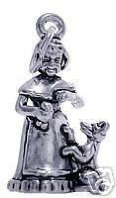 Primary image for LOOK Old Mother Hubbard Dog Charm Jewelry Silver 925 Pendant