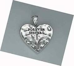 LOOK Girls Sister Best Friend gift Sterling silver pendant - $54.70