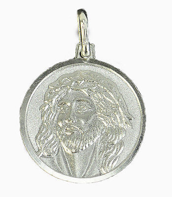 Primary image for LOOK Lord Jesus Christ face crown of thorns Authentic Sterling Silver Charm Jewe