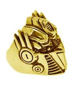 LOOK Optimus Prime Transformers 24kt Gold plated Sterling silver autobot... - $74.82