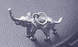 LOOK New 3D solid Sterling Silver 925 Pendant Elephant Charm - $17.18