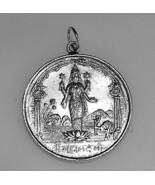 LOOK New Hindu Vishnu OM Lotus Real Sterling Silver .925 Pendant Charm s... - $27.96