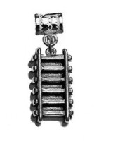 LOOK Train railway railroad Track charm Authentic Genuine sterling silver 925 Je - $14.35