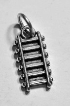 LOOK Train railway railroad Track charm Authentic Genuine sterling silve... - $9.69