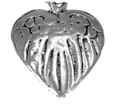 LOOK New Love Heart Guardian Angel sterling silver 925 Charm - $7.97