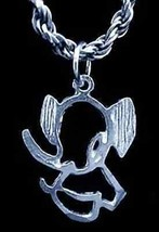 LOOK Outline Elephant Pendant Silver Charm Jewelry - $20.52
